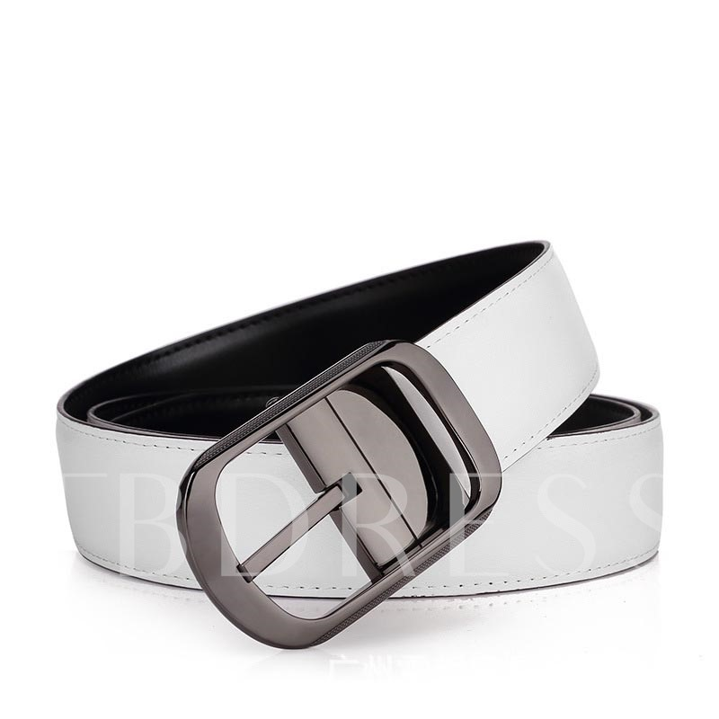Pin Buckle Cowhide Alloy Vintage Men's Belts