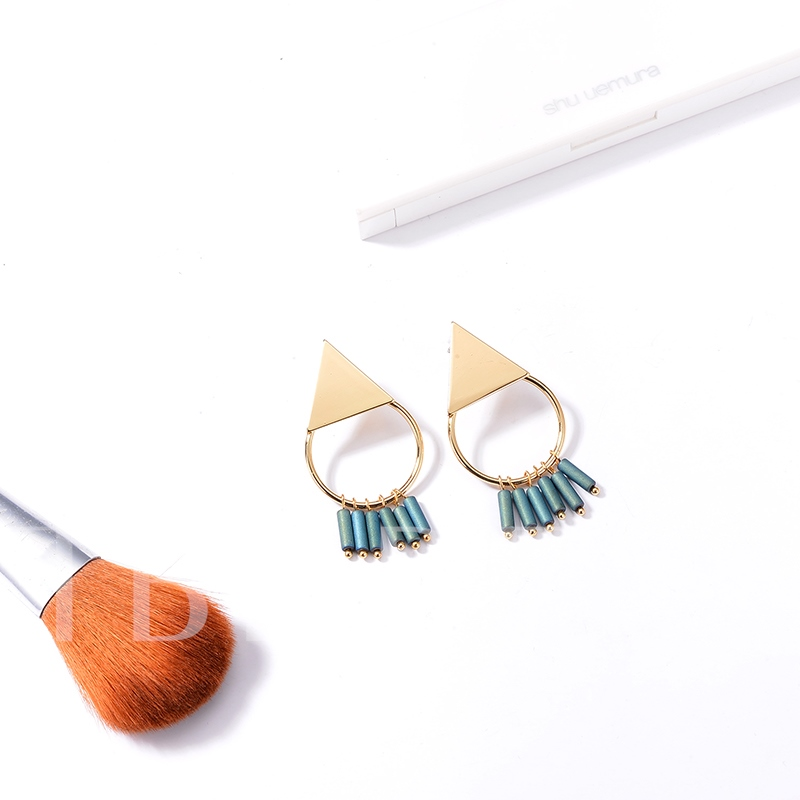 Alloy Geometric Simple Joker Tassel Earrings