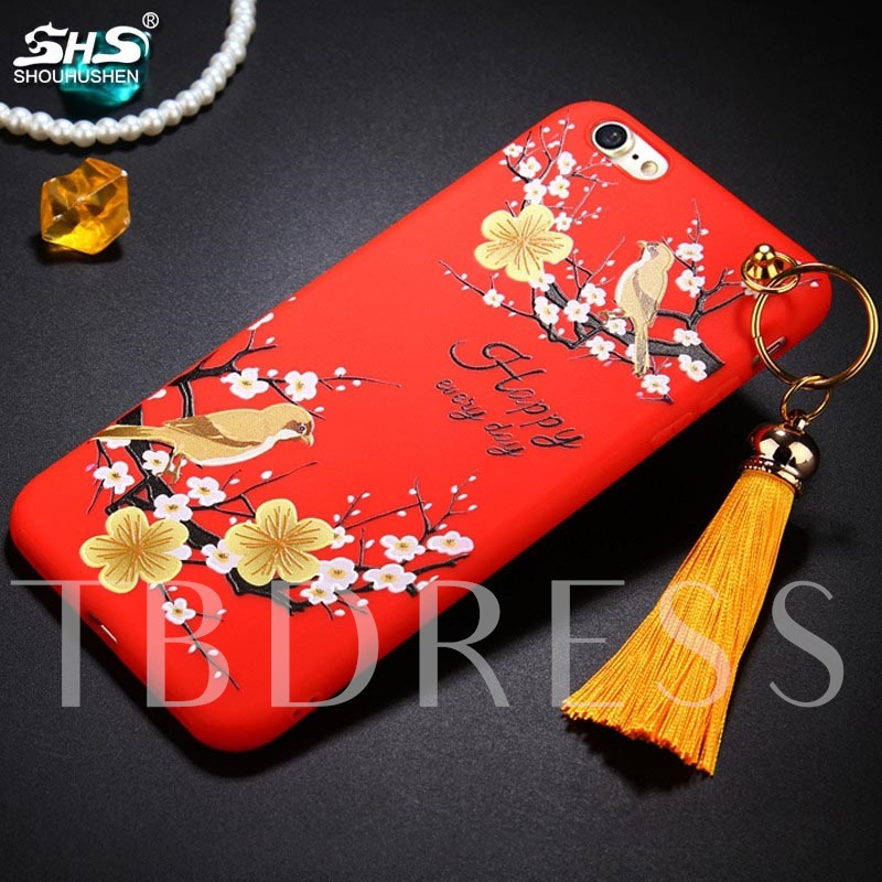 iPhone 8/8 Plus/7/7 Plus Floral Case,Scrub TPU Phone Shell