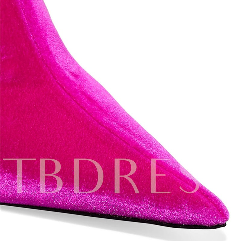 Pointed Toe Slip-On Colorful Women's Fashion Boots
