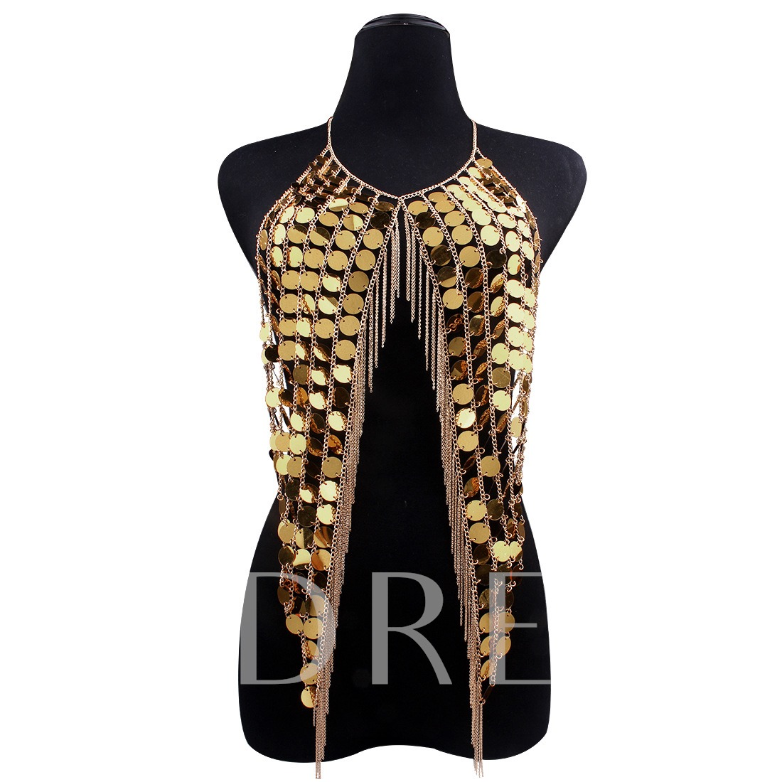 Sequins Alloy Long Chain Personalized European Necklace