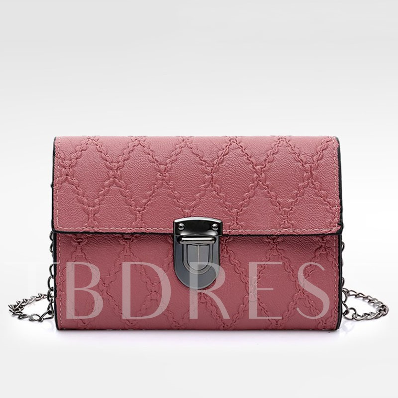All-match Quilted Lining Chain Cross Body