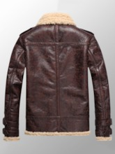 Lapel Faux Shearling Thick Warm Down Zipper Vogue Slim Fit Men's Jacket