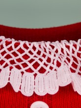 Red Lace Patchwork Women's Sweater Dress