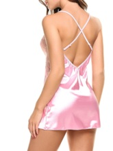 Spaghetti Strap Backless Mini Babydoll