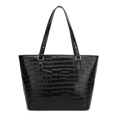 Concise Croco-Embossed Tote Bag