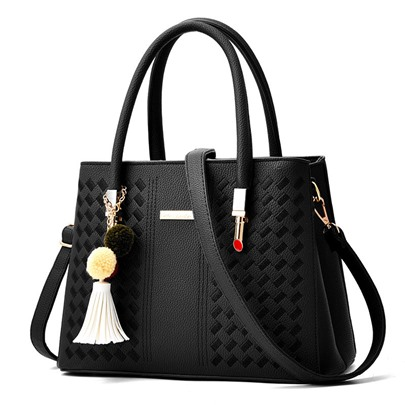 Graceful Large Capacity Embossing Women Handbag