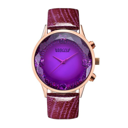 Glossy Ultra Violet Alloy Quartz Glass Watches