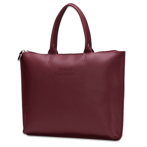 Casual Business Style PU Tote Bag
