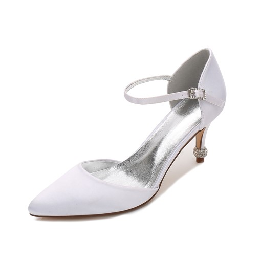 High Heels Pointed Toe Plain Women's Wedding Dress Shoes