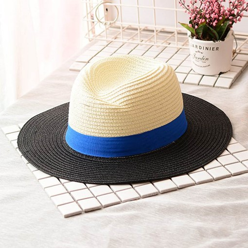 Color Block Letter Straw Beach Joker Hats