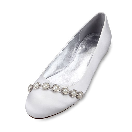 Beads Slip-On Rhinestone Bridal Shoes For Wedding