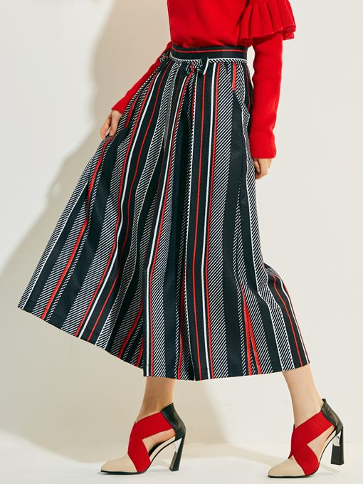 Color Block Striped Print Women's Pants