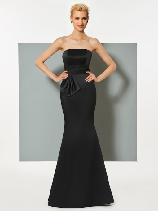 Strapless Trumpet Sleeveless Floor-Length Evening Dress