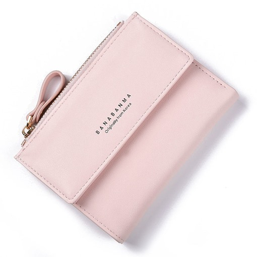 Stylish Solid Color Multicard Women PU Purse