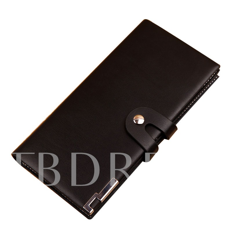 Fashion Buckle Long Type Men's Wallet