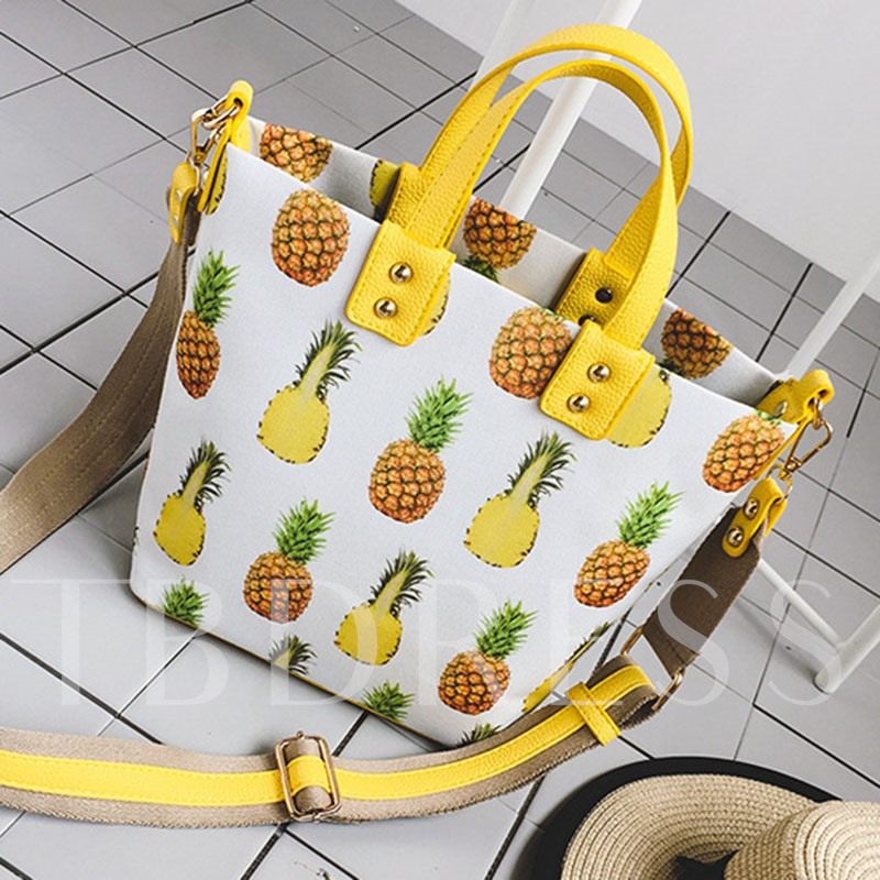 Stylish Pineapple Printing Women Handbag