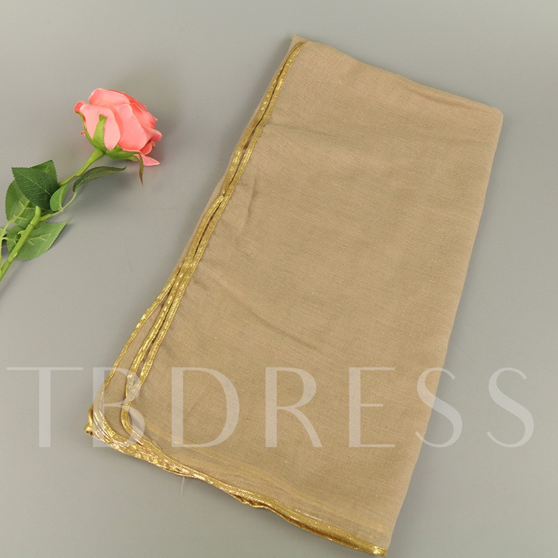 Pure Border With Gold Cotton Tie-Dye Scarfs