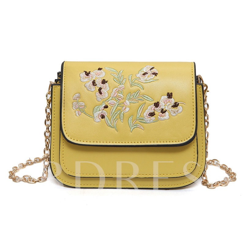 All Match Embroidery Chain Cross Body