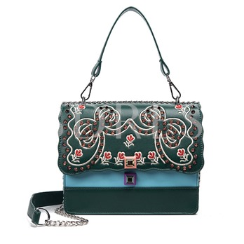 Bowknot Embroidery Pattern Cross Body Bag