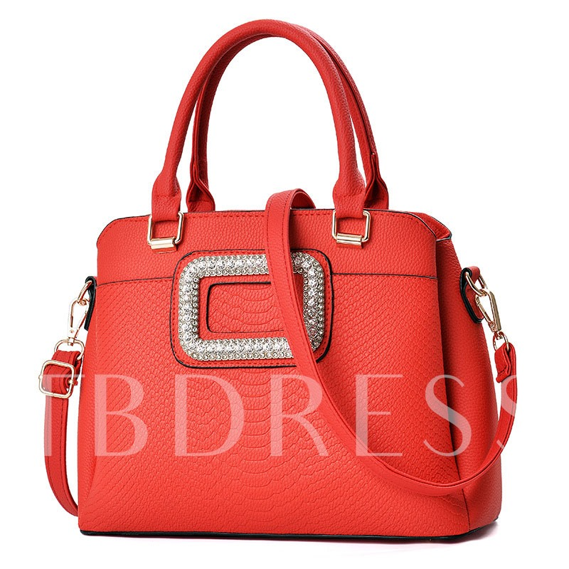 Large-Capacity Solid Color Women Tote Bag