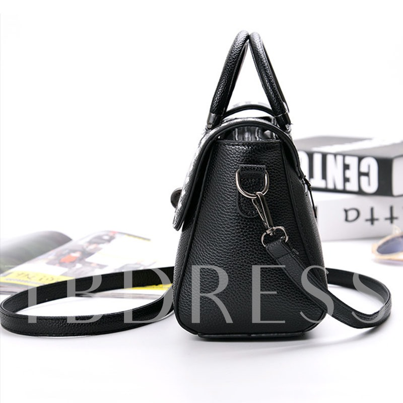 Concise Latch Adornment PU Cross Body