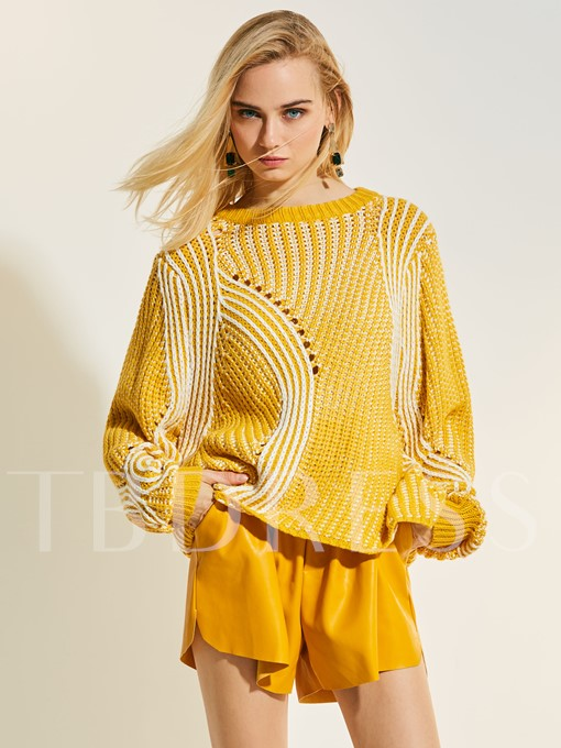 Hollow Loose Pullover Women's Sweater