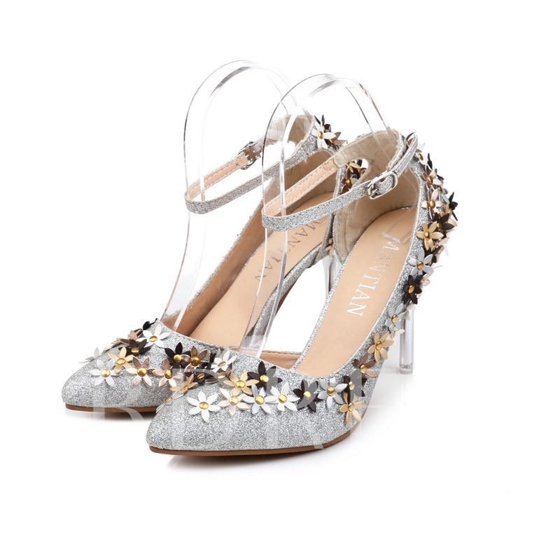 Buy Line-Style Buckle Banquet Appliques Rivets Women's Pumps, Spring,Summer,Fall, 12922413 for $21.99 in TBDress store
