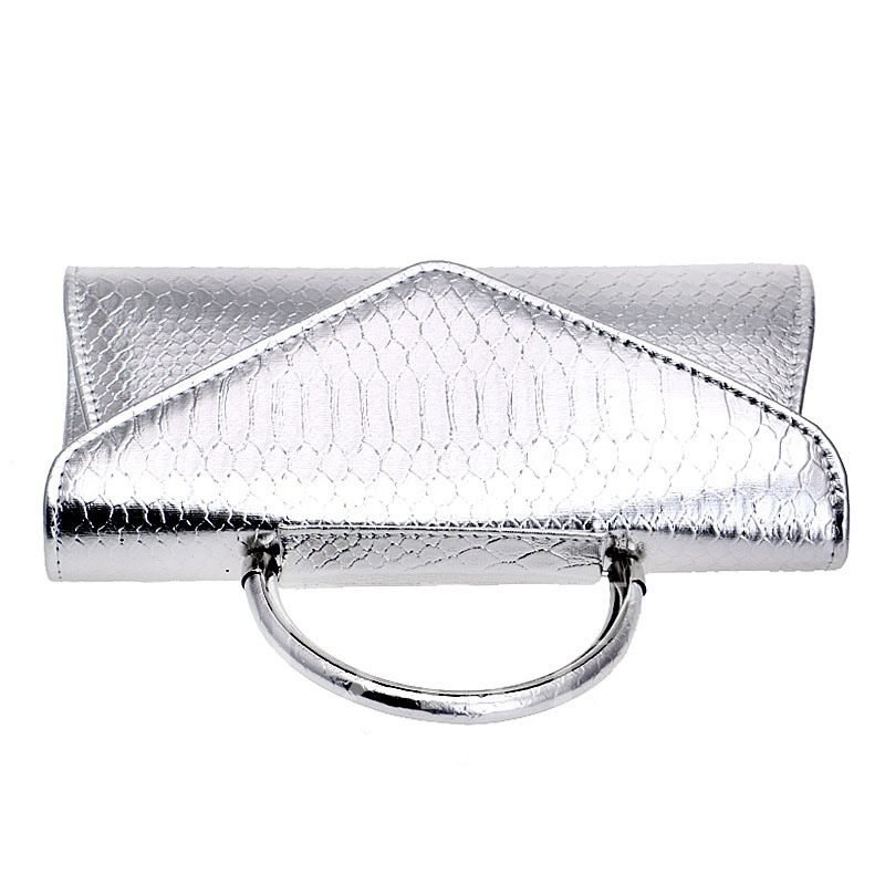 Classic Serpentine Solid Color Evening Clutch
