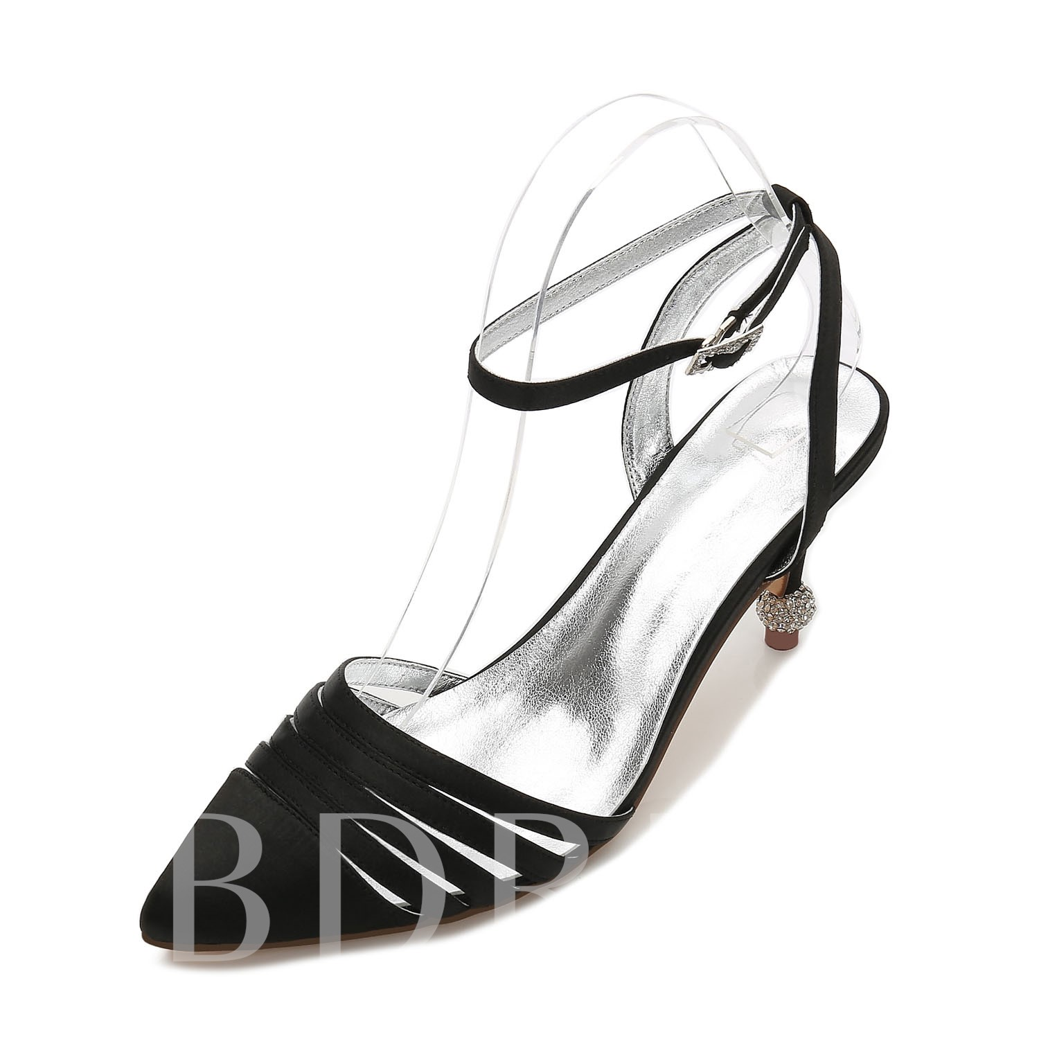 Low-Cut Upper Buckle High Heels Ankle Strap Bridal Shoes For Wedding