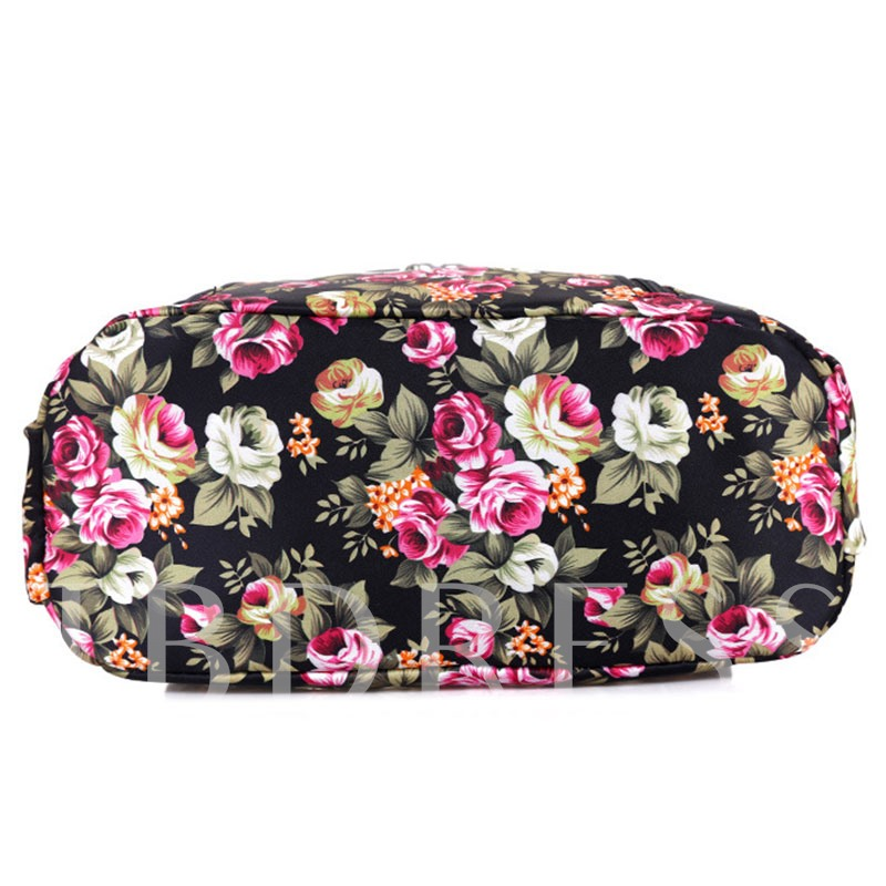Fashion Floral Printing School Backpack