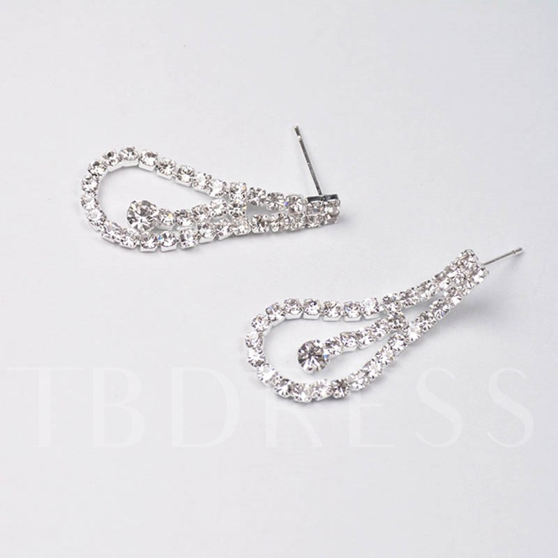 Pear Hollow Out Diamante Twist Arm Jewelry Sets
