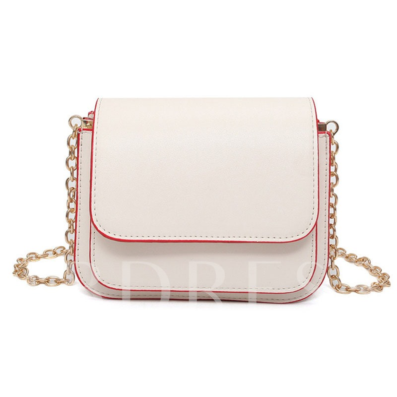 Korean Style Solid Color Cross Body
