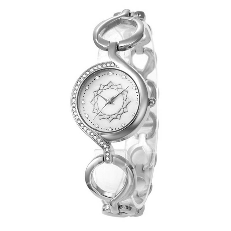Diamanate Quartz Flower Alloy Glass Joker Watches