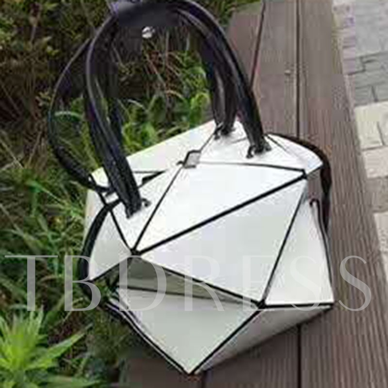 Trendy Quilted Lining Design PU Tote Bag