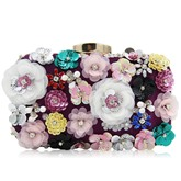 Versatile Floral Pearl Embroidery Chain Cross Body