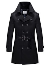 Long Pattern Triple-Breasted Thin Men's Trench Coat