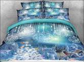Santa Claus and Christmas Ornaments Printed 3D 4-Piece Bedding Sets/Duvet Covers