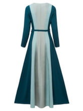 Turquoise Striped Women's Maxi Dress