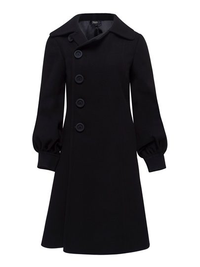 Buttons Lantern Sleeve A-line Women's Overcoat