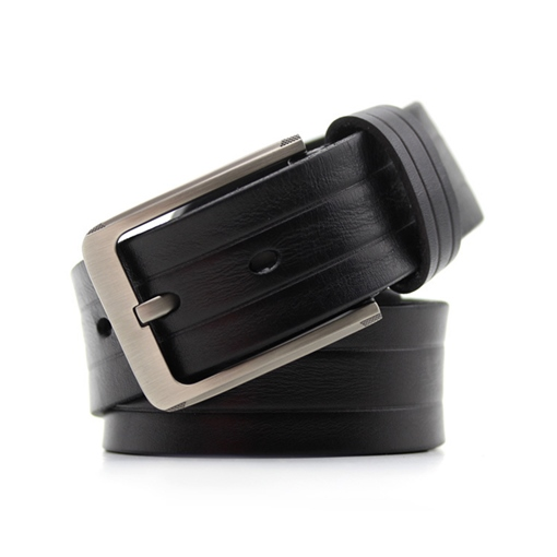 Plain Artificial Leather All Match Pin Buckle Korean Men's Belts