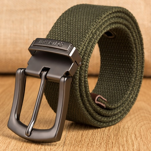 Canvas Pin Buckle Casual Preppy Men's Belts