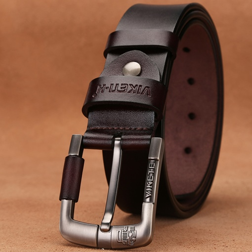 Alloy Pin Buckle Split Cowhide Fashion Men's Belts