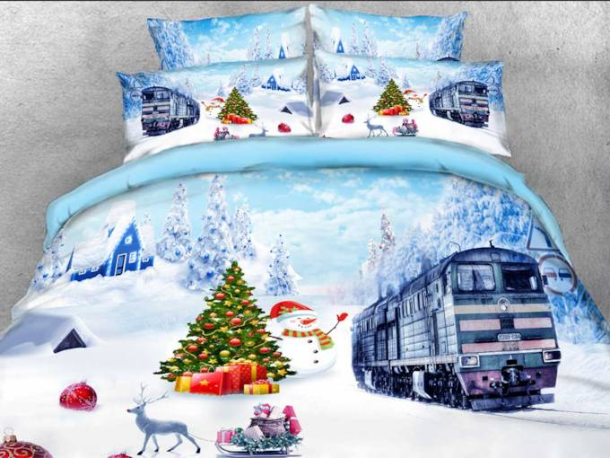 Duvet Cover Set Machine Wash Four-Piece Set Tencel Cotton Bedding Sets