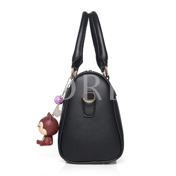 Occident Style Solid Color Boston Tote Bag