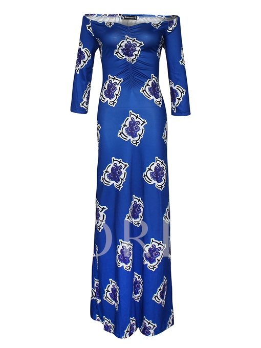 Plus Size Royal Blue Women's Maxi Dress