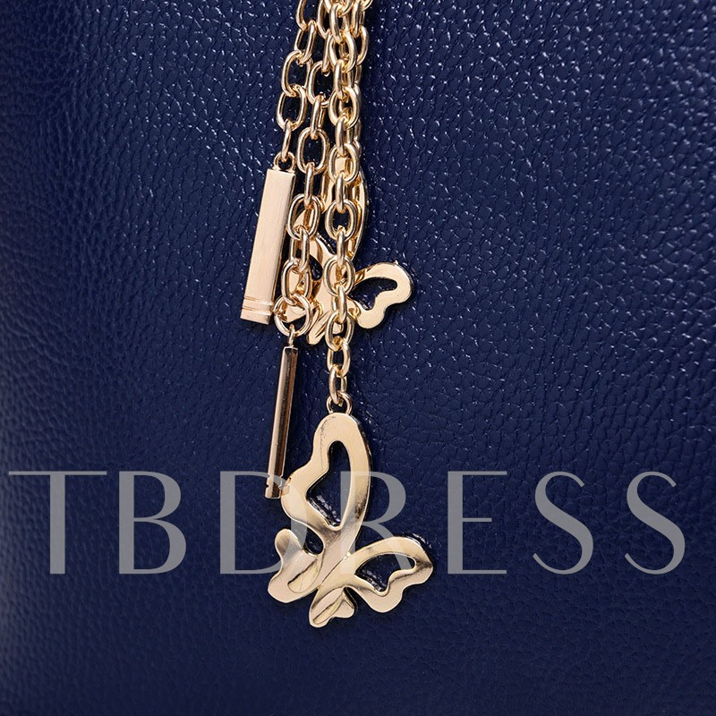 Stylish Exquisite Butterfly Pendant Women Bag Set