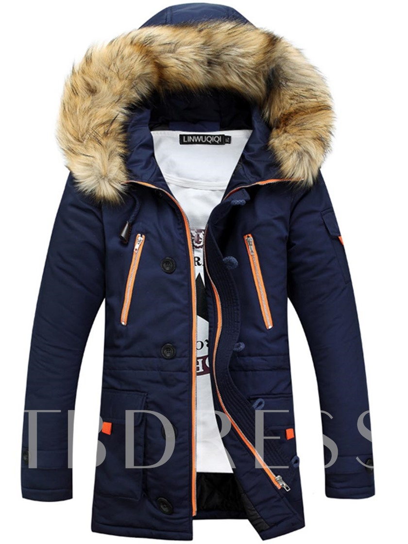 Faux Fur Hooded Thicken Warm Men's Winter Coat