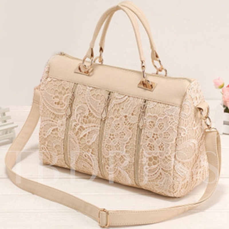 Korean Style Lace Patchwork Tote Bag