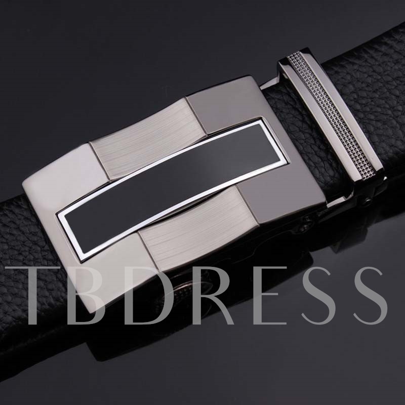 Wave Patchwork Embossed Upper Cowhide Men's Belts